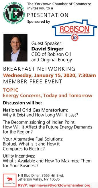 Yorktown Chamber of Commerce Breakfast Networking featuring our CEO, David Singer